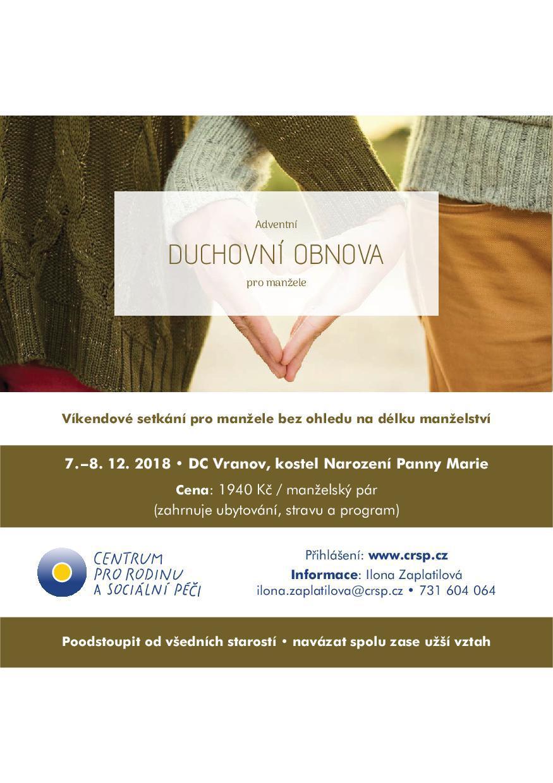Adventní duchovní obnova pro manžele na Vranově - Radio Proglas 27b1a0297d