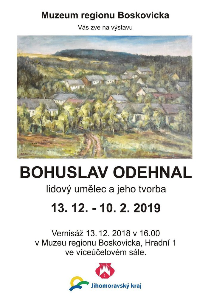 boskovice vystava Odehnal
